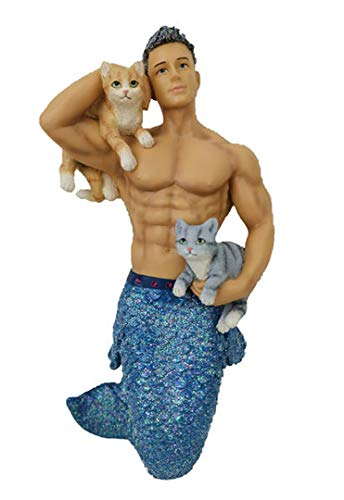 December Diamonds Smokin Hot Merman in Leather Christmas Ornament 5555073 New