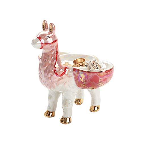 Aiglen Soporte de almacenamiento de joyería de cerámica anillo creativo collar pendientes bandeja de almacenamiento de jabón caja bandeja