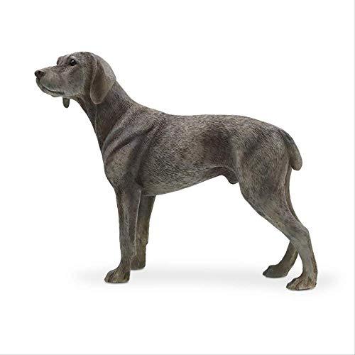 Modelo de Perro de Weimar, simulación de Perro de Weimar, decoración del hogar, Manualidades para automóviles con Soldados y Animales