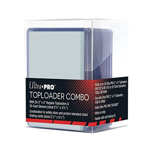 Price comparison product image Ultra Pro Toploader Combo - Includes Toploaders,  Card Sleeves & Storage Box (25)
