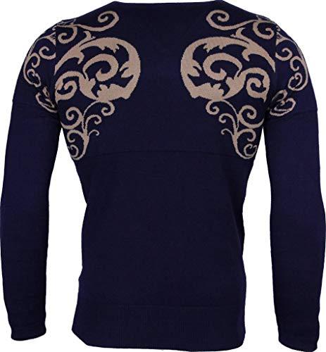 Casual Trui - Tattoo Motief Borduur Heren - Blauw