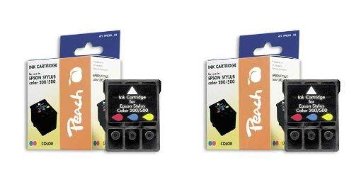 Peach PI200-296 Colour Ink Cartridge for Epson S020097 (Pack of 2)