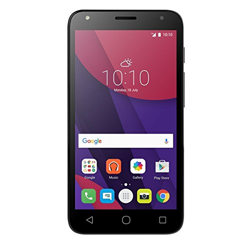 Alcatel 5010D-2AALWE1 PIXI 4-5 3G Smartphone (12,7 cm (5 Zoll) Display, 8 GB Speicher, Android 6.0) schwarz