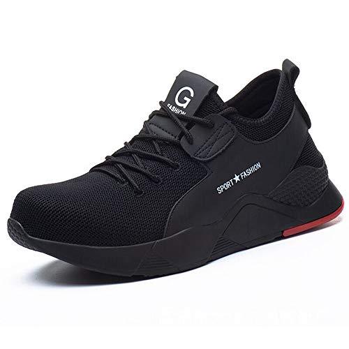 [ziitop] 安全靴 作業靴 メンズ レディース 鋼先芯(JIS H級相当) セーフティーシューズ スニーカー ハイカット 黒 ワーキングシューズ 通気性 軽量 防臭 防滑 絶縁 衝撃吸収 23.0~28.0cm