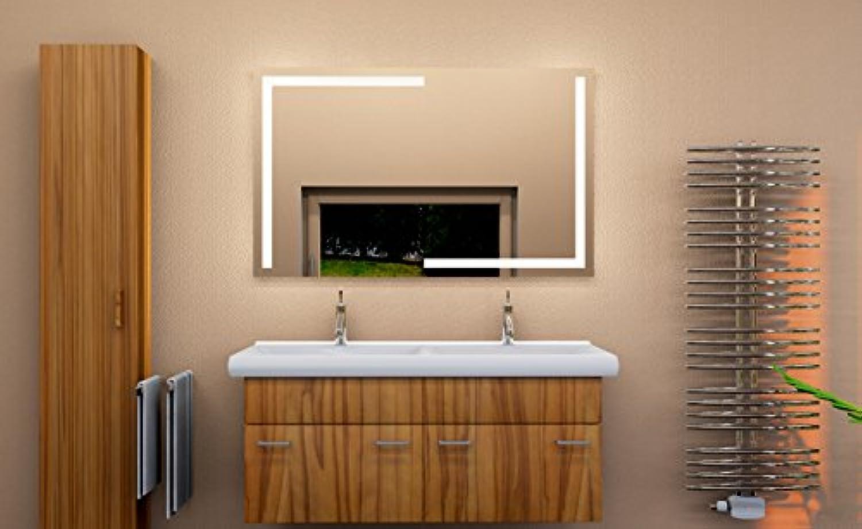 LED Badezimmerspiegel BADSPIEGEL Wandspiegel Bad Spiegel Lichtspiegel S300 (B 100 x H  70 cm)