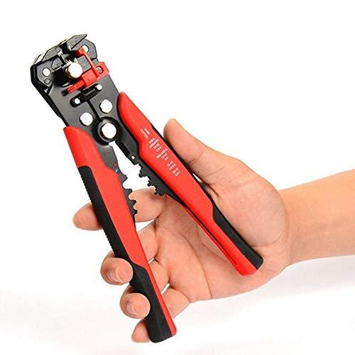 U/D Pimbuster Kabel-Draht-Stripper Cutter Quetschen Automatische Multifunktions TAB Krimpanschluss Stripping Zangenwerkzeuge (Color : Rot)