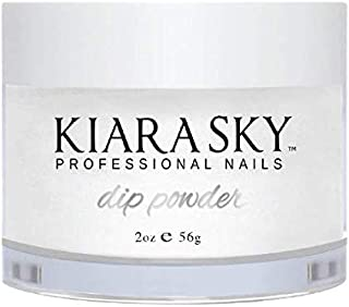 Kiara Sky Dip Powder. Clear Color Long-Lasting and Lightweight Nail Dipping Powder, 2 Ounces