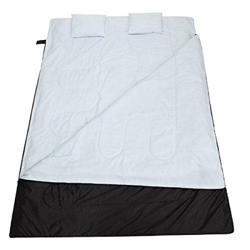 Le Sac De Couchage De Couples Doubles épaississent Le Camping En Plein Air Adulte Avec Des Oreillers Légers Sans Aucune Longue Vie D'odeurs,Grey