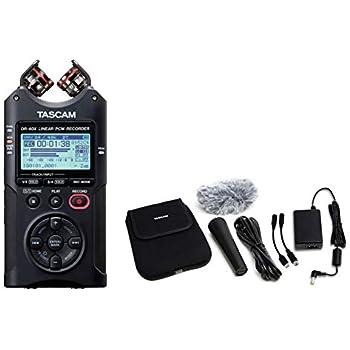 TASCAM タスカム - USB オーディオインターフェース搭載 4チャンネル リニアPCMレコーダー DR-40X + アクセサリーパッケージ AK-DR11G MKII セット