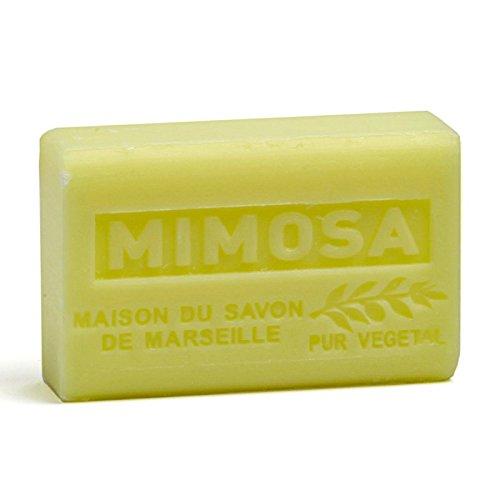Provenzalische Seife Mimose (Mimosa) mit Bio-Sheabutter (125 Gramm)