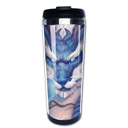 Taza de café de viaje Dragón chino Taza de café con aislamiento de acero inoxidable Botella de agua deportiva 13.5 oz (400 ml) MUG-3764