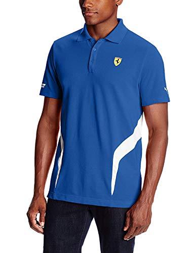 PUMA Herren Polo Shirt Ferrari - Blau - Small