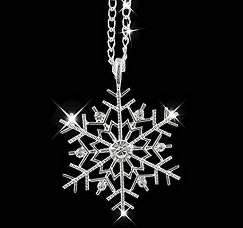 Collar de copo de nieve con cristales austriacos, para Navidad, con copo de Navidad