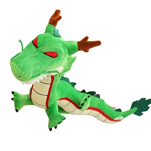 Peluche de dragón Shenron de 80 cm, tamaño pequeño, color verde