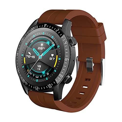 HX&QX ALLCALL GTE Full Touch Smartwatch Bluetooth Llamada Fitness Tracker Pulsera Deportiva IP68 Impermeable ECG Hombres Mujeres Reloj Inteligente para teléfono Android iOS (Brown)