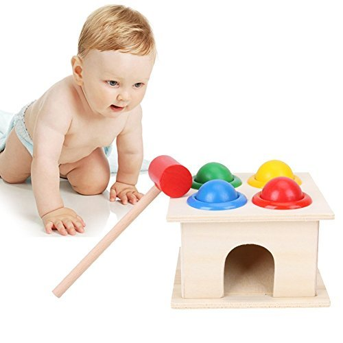 Zhisheng You Wooden Hammer Balls,Pounding Bench Wooden Toy With Mallet for Kids,Educational Knock Balls Game For Toddler