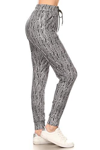 Leggings Depot Premium Women's Joggers Popular Print High Waist Track Pants (S-XL) BAT3