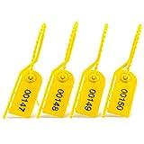 Sigillo di sicurezza numerato a strappo per estintori, per bagagli, scarpe, scatole, cavi, gestione dell'inventario, Yellow (Giallo) - SF-18FYW1000