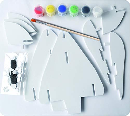 Andreu Toys 1210062 Craft Trikes 3D schuim vliegtuig speelgoed, 22,7 x 16,5 x 7,2 cm