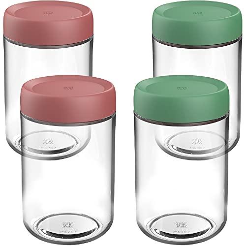 Tarro de Vidrio de Almacenamiento, ZoneYan Botes Cristal Pequenos, Glass Jars Set Kitchen, Frascos de Vidrio con Tapa, Tarros para Alimentos (4 x 250ml)