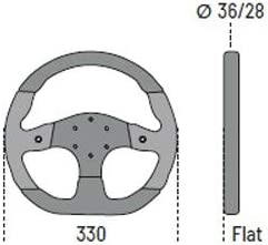 Sparco 015tmg22tuv Universelles Sportlenkrad L999 Mugello Grau Leder Schwars Wildleder Diameter 330mm Auto