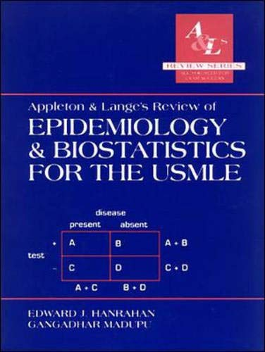 Download Appleton & Lange's Review of Epidemiology & Biostatistics for the Usmle (A & L's Review) 083850244X