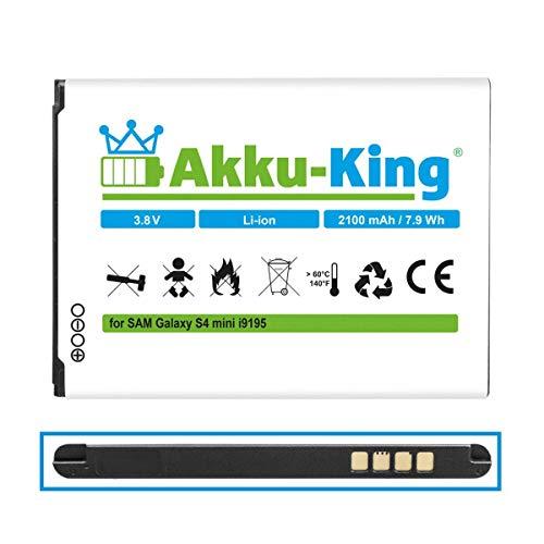 Akku-King Akku kompatibel mit Samsung EB-B500BE, EB-B500BU - Li-Ion 2100mAh - für Galaxy S4 Mini GT-i9192, GT-i9195, GT-i9198