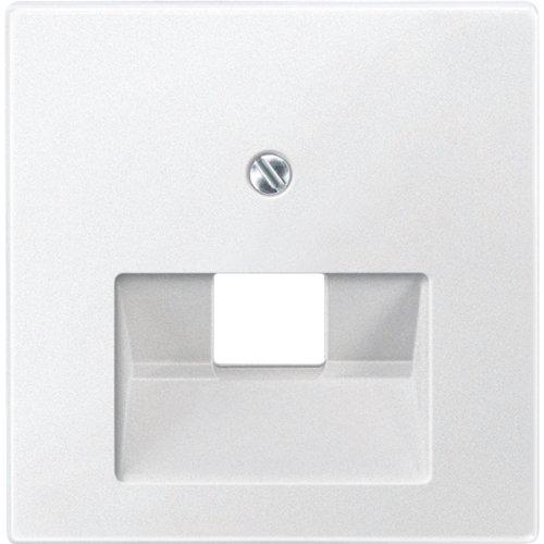Merten 298319 centrale plaat voor UAE-gebruik, 1-voudig, poolwit, systeem M