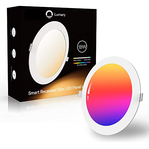 Downlight Led Techo Inteligente Ultrafina 18W 1440LM, Lumary LED Empotrable Techo con Caja de Conexiones Controlada por APP, Funciona con Alexa, Google Home(18W-1PCS)