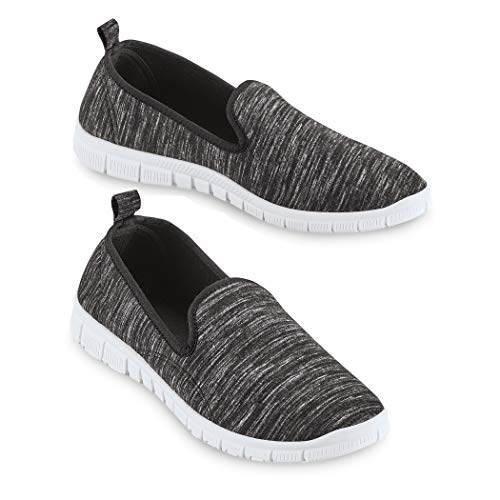 Slip On Lightweight Memory Foam Sole Sneakers, Regular Width Black
