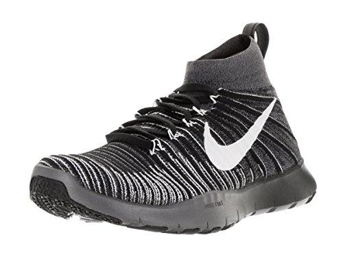 Nike Herren Free Train Force Flyknit Gymnastikschuhe, Dunkelgrau/Weiß/Schwarz/Grün (Dark Grey White Black Volt), 45 EU