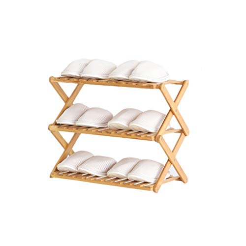 VOCD schoenenrek voor 3 dieren, voor 4 dieren, 5 dieren, bamboe, staande organizer, legplank, ideaal voor hal, badkamer, woonkamer, slaapkamer en hal