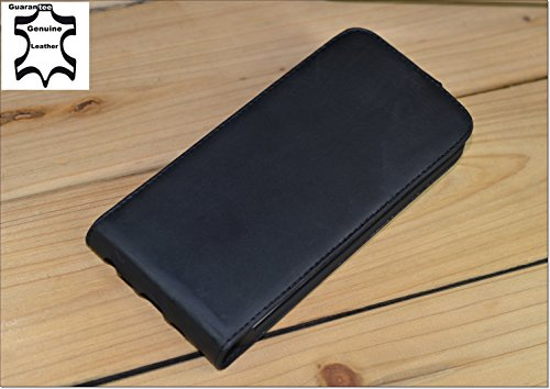 Akira Hand Made [Echt Leder] Handyhülle kompatibel mit LG G2 Cover Handgemacht Case Schutzhülle Etui Flip Wallet Pen Schwarz