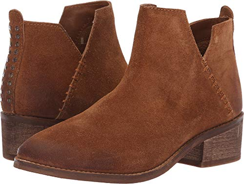 Diba True VIO Lyn Suede Studded Ankle Boot (6, Whiskey)