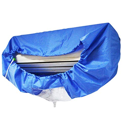 Copertura del condizionatore d'aria del lavaggio di WTALL,Copertura impermeabile,Blu Wall Mounted Aria Condizionata Pulizia Bag Split Aria condizionata pulizia