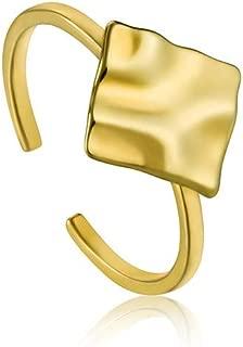 Crush Square Adjustable Ring