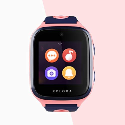Xplora 4 Kids - Smartwatch para niños, Incluye Tarjeta SIM en Red Vodafone y cartilla de Amazon de 100 €, Reloj Inteligente para niños con GPS