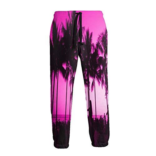 Coconut Tree - Pantalones deportivos largos para hombre, color morado
