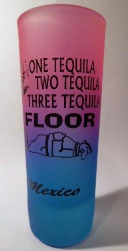 Mexique One Tequila Néon pink-neon Verre Shooter Shot Bleu