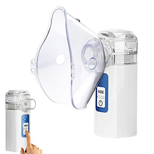 Handheld Nebulizer Steam Inhalers, MAYLUCK Mini Nebulizer Portable Nebulizer for Kids, Steam Inhaler Vaporizer Two Working Modes for Better Atomization