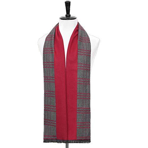 LCSD Bufandas Caliente Rojo for Hombre otoño Invierno de la Bufanda de Rayas Rejilla pañuelo for el Cuello del tartán de Paisley Bufandas Pañuelos de Bandelet 180 * 30cm