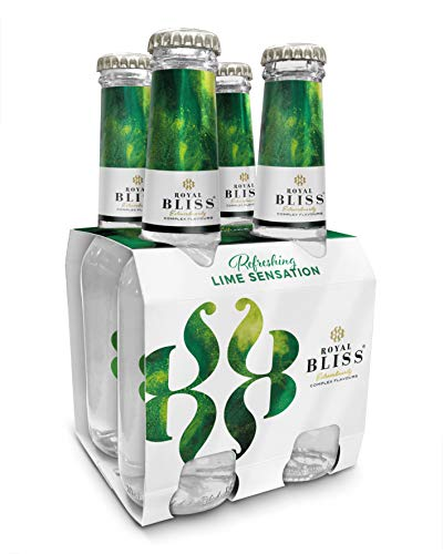 Royal Bliss - Tónica Premium Refreshing Lime Sensation - Paquete de 4 x 200 ml, botella de cristal
