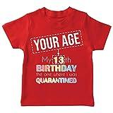 lepni.me Camiseta para Niños Bloqueo de Cuarentena 2021 Regalo de Fiesta de Cumpleaños Personalizado (9-11 Years Rojo Multicolor)