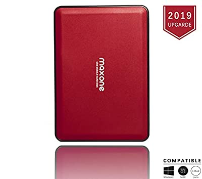 2.5'' Portable External Hard Drives 160GB-USB 3.0 HDD Backup Storage for PC, Desktop, Laptop, TV, Mac, MacBook, Chromebook, Windows - Red