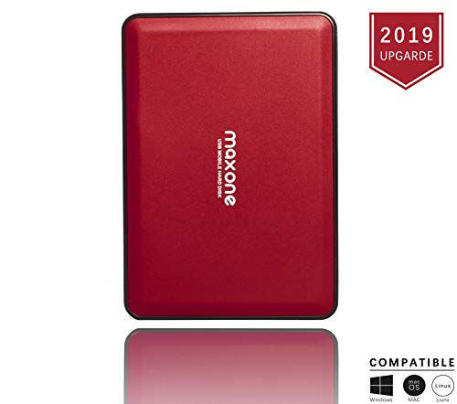 2.5'' Portable External Hard Drives 500GB-USB 3.0 HDD Backup Storage for PC, Desktop, Laptop, Mac, MacBook, Xbox One, PS4, TV, Chromebook, Windows - Red