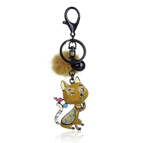 GNLIAN HUAHUA KeyChains Keyring Enamel Metal Cat Key Chains For Women Animal Keychain on Bag Pendant Key Chains Jewelry Accessories
