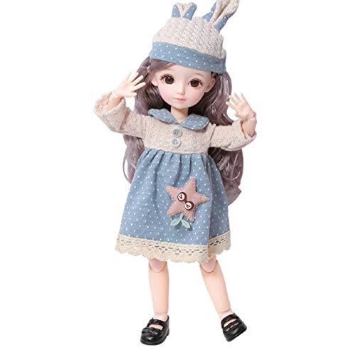 Unda118 Muñeca de niña, Muñecas de Moda de Princesa de Vestir, Colección de Juegos para niños Muñeca Regalo Creativo Regalo de cumpleaños Regalo Favorito de niña (UN)