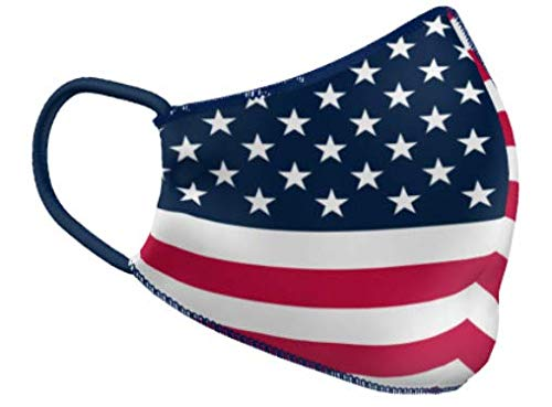 Teamatical Performance Face Mask (Large, American Flag)