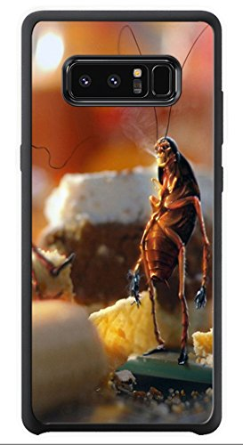 VUTTOO Case for Samsung Galaxy Note 8 Only - April Fools Day Cockroaches Bread Kitchen Case - Shock Absorption Protection Phone Cover Case