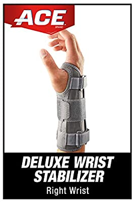 ACE Deluxe Wrist Stabilizer, Right Hand, Helps Relieve Symptoms of Carpal Tunnel Syndrome, Satisfaction Guarantee
